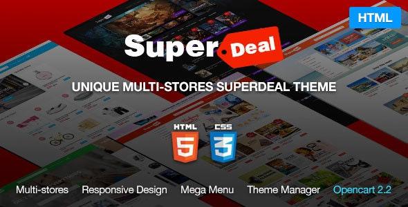 Super Deal - MultiPurpose eCommerce HTML5 Template - Retail Site Templates