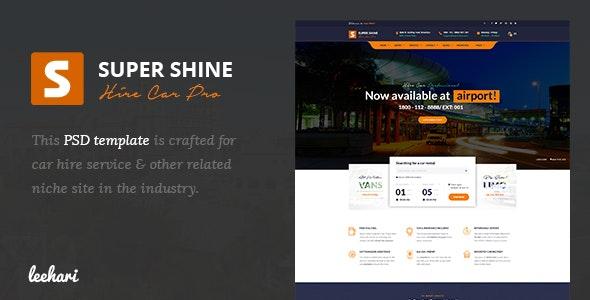 Super Shine - Car Hire PSD Template - Travel Retail