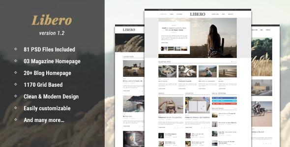 Libero - Simple, Elegant Magazine & Blog PSD Template - Miscellaneous Photoshop