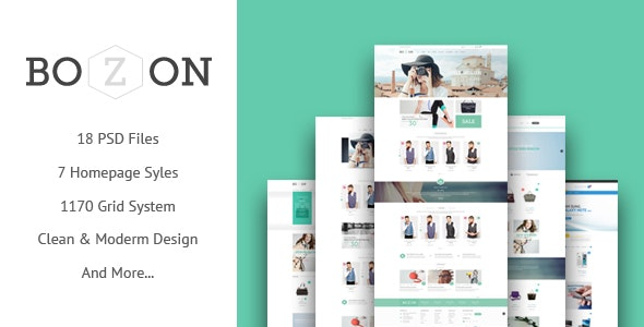 BOZON - ecommerce PSD template - Retail Photoshop