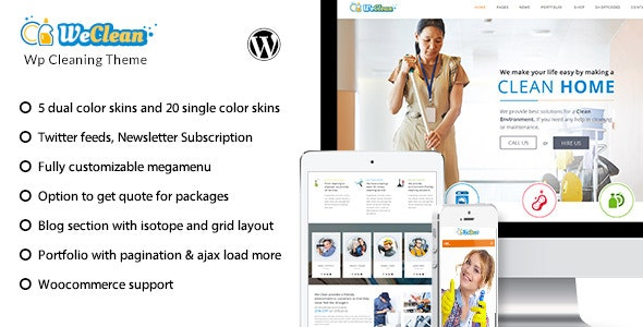 We Clean - Cleaning Business WordPress Theme - Miscellaneous WordPress