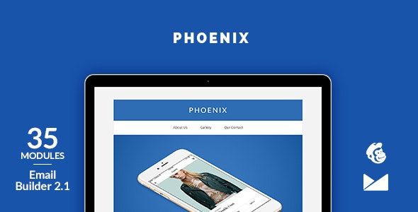 Phoenix Email Template + Online Emailbuilder 2.1 - Catalogs Email Templates