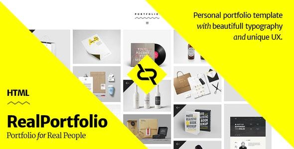 RealPortfolio - Personal Portfolio Template - Portfolio Creative