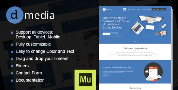 dMedia - Creative Multipurpose Muse Template - Creative Muse Templates