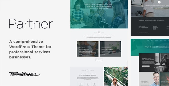 Partner - Accounting and Law Responsive WordPress Theme - Business Corporate