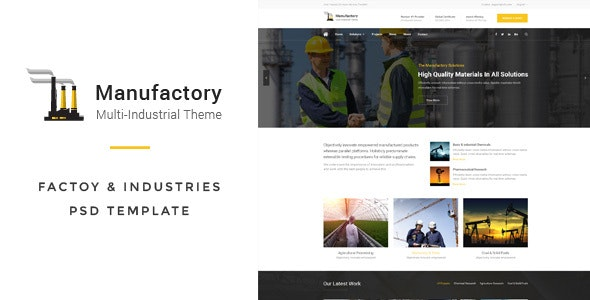 Manufactory: Multi-Industrial PSD Template - Business Corporate