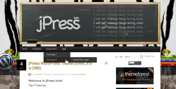 jPress - Word Press CMS - News / Editorial Blog / Magazine