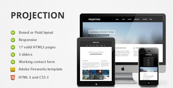 Projection - Responsive HTML5 Template - Business Corporate