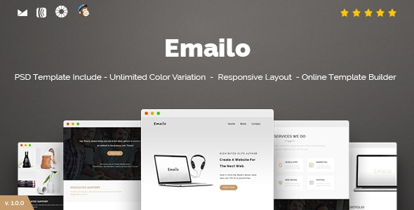 Emailo - Responsive Email and Newsletter Template - Newsletters Email Templates