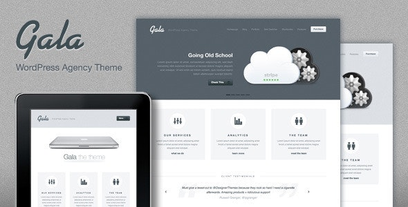 Gala, a Tasty Mac-inspired Agency WordPress Theme - Creative WordPress