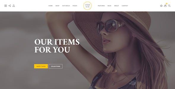 Over Sun - Multipurpose eCommerce PSD Template