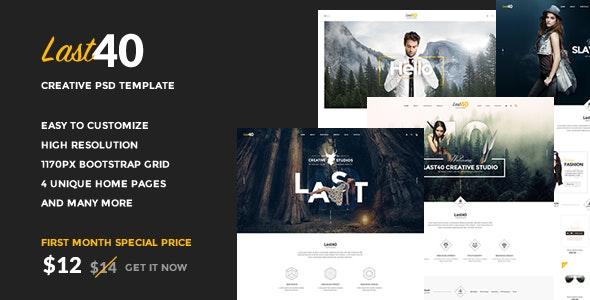 Last40 - Creative PSD Template - Creative PSD Templates