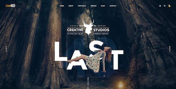 Last40 - Creative PSD Template