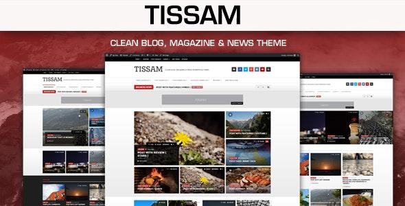 Tissam - Clean Blog, Magazine & News Theme - Blog / Magazine WordPress
