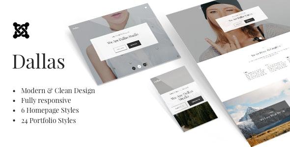 Dallas - Minimalistic Agency, Portfolio & Photography Joomla Template - Portfolio Creative