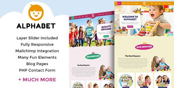 Alphabet - Daycare / School HTML5 - Children Retail