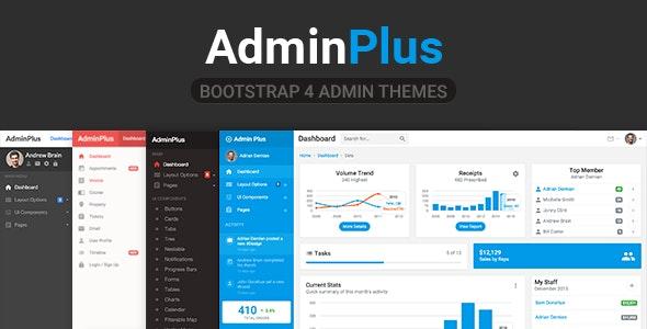 AdminPlus Premium - Bootstrap 4 Admin Dashboard - Admin Templates Site Templates
