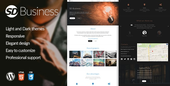 SD Business - Responsive WordPress Theme - Business Corporate