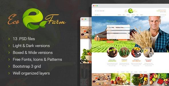 Eco Farm - Organic Food PSD Template - Business Corporate