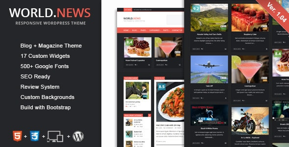 WorldNews - Responsive WordPress Blog\Magazine - Blog / Magazine WordPress