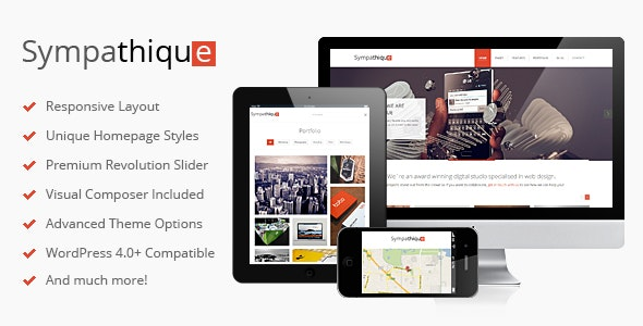 Sympathique Responsive WordPress Theme by DeliciousThemes