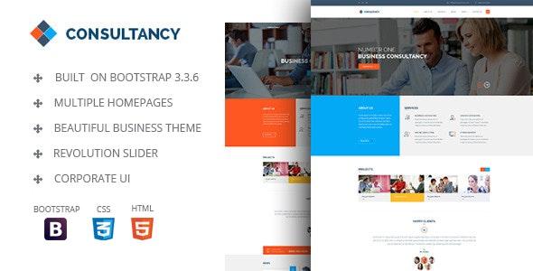 Consultancy - HTML Bootstrap Template - Portfolio Creative