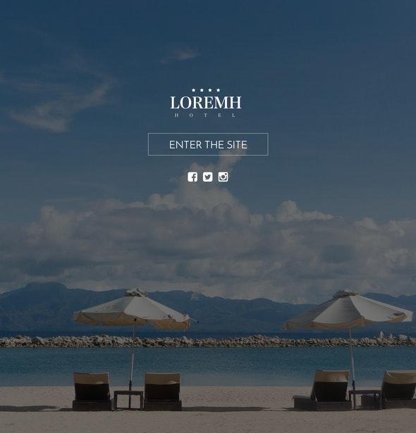 Black & Gold Hotel Website Template, Sketch Design  - Business Corporate