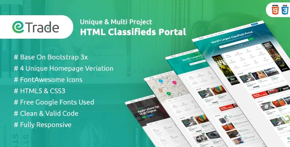 Classified Ads HTML Website Templates from ThemeForest