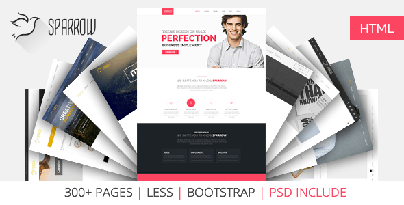 Sparrow | The Multi-Purpose HTML5 Template - Creative Landing Pages