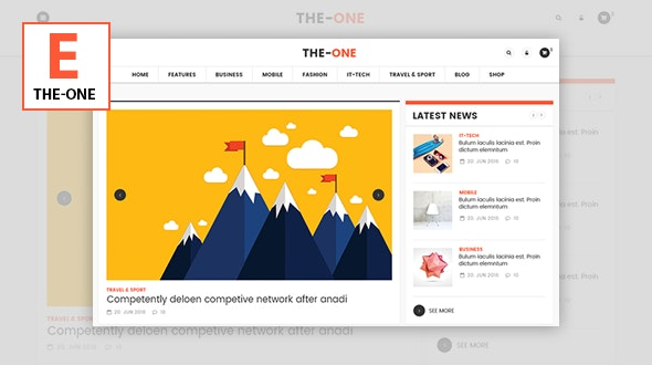 The One News Magazine Blog - Responsive WordPress Theme - Blog / Magazine WordPress