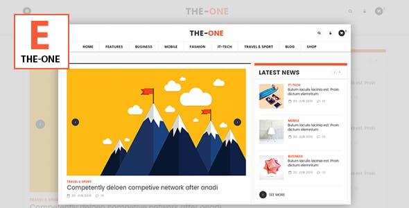 The One News Magazine Blog - Responsive WordPress Theme by 7uptheme