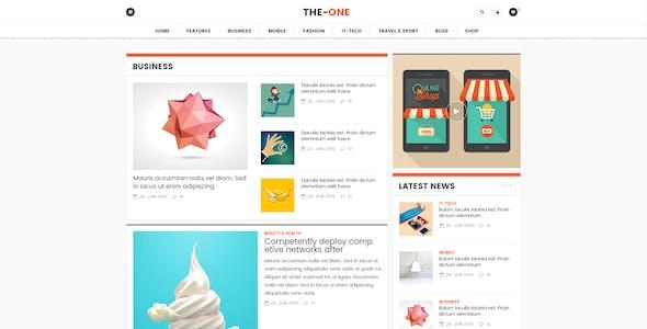 The One News Magazine Blog - Responsive WordPress Theme
