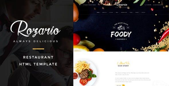 Rozario - Restaurant & Food HTML Template