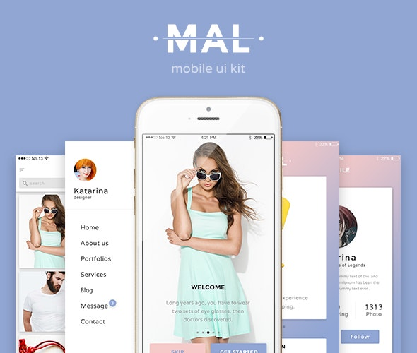 Mal - Mobile UI KIT - Creative Sketch