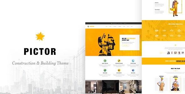 Pictor - Html Construction, Building And Business template - Site Templates