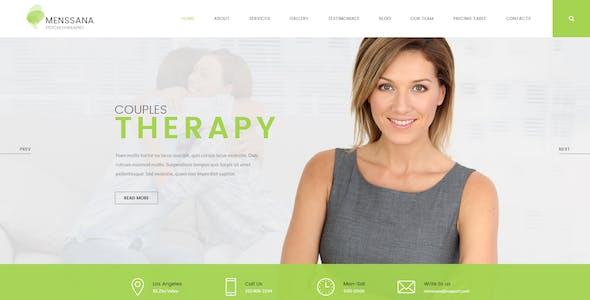Menssana - Psychologist and Psychotherapist PSD Template