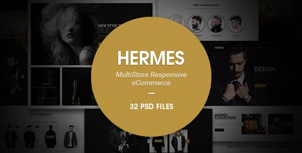 Hermes -  eCommerce PSD Template - Retail Photoshop