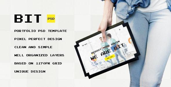 Bit — Original Digital Pixel Art Portfolio PSD Template - Portfolio Creative