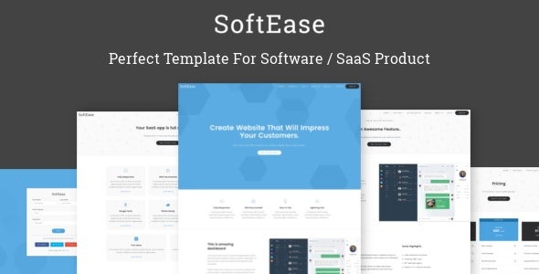 SoftEase - Multipurpose Software / SaaS Product Template - Software Technology