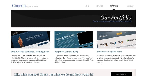 Cancun - Corporate, Clean and easy. XHTML Strict