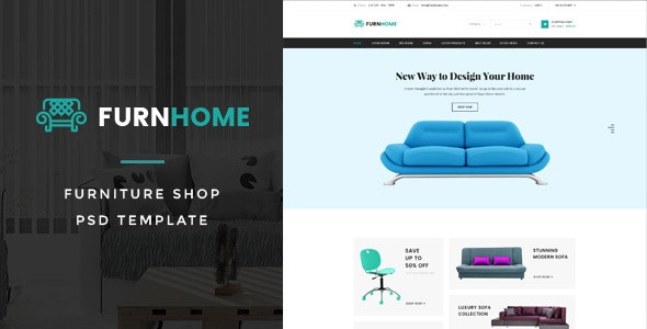 FurnHome : Furniture Shop eCommerce PSD Template - Shopping Retail