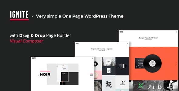 IGNITE - Simple One Page Creative WordPress Theme - Portfolio Creative