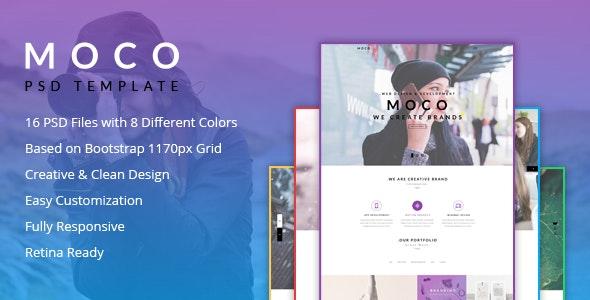 Moco Agency - Creative One Page Template - Creative Photoshop