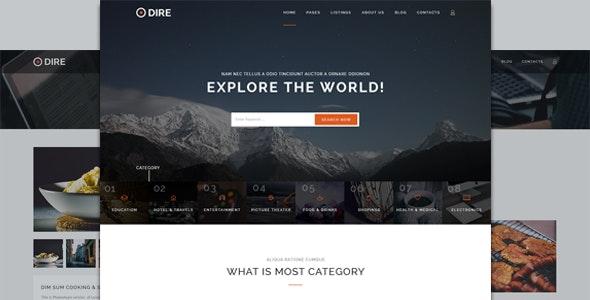 Dire - Multi Purpose Directory & Listings PSD Template - Business Corporate