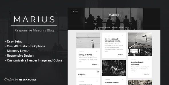 Marius - Responsive Masonry Blog Tumblr Theme
