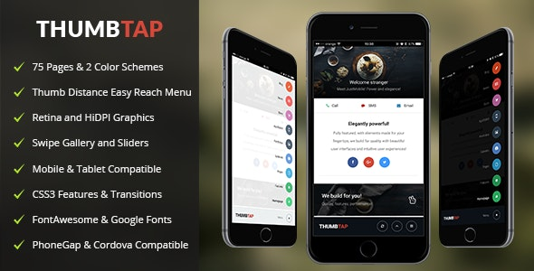 ThumbTap Mobile - Mobile Site Templates