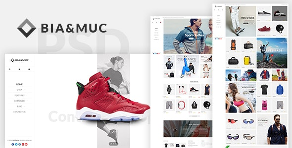 B&M - Responsive eCommerce PSD Template - Shopping Retail
