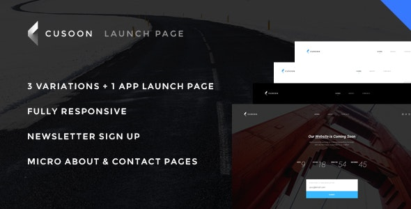 C U Soon - Launch Page, Countdown Page - Responsive HTML Theme - Under Construction Specialty Pages
