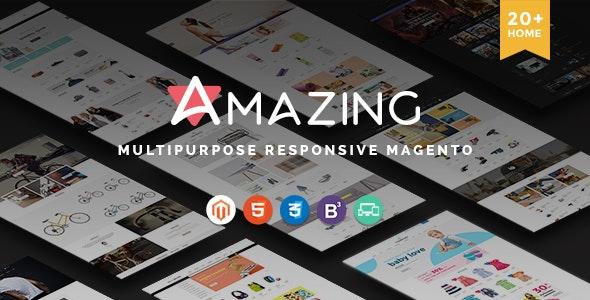 Amazing | 20+ Unique Designs & Responsive Premium Multipurpose Magento eCommerce Themes New 2016 - Shopping Magento