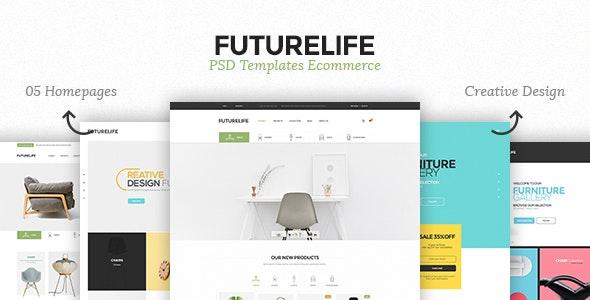 Futurelife - eCommerce PSD Template - Retail Photoshop